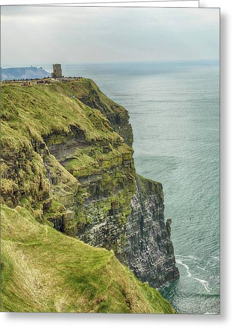 Tower At The Cliffs Of Moher Greeting Card