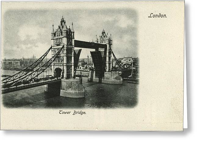 Tower Bridge Across The Thames In London Greeting Card