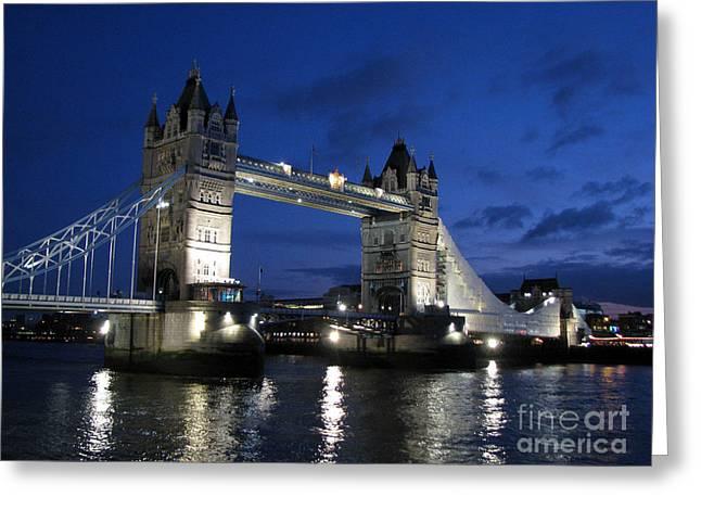 Tower Bridge Greeting Card by Amanda Barcon