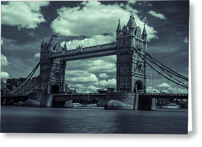 Tower Bridge Bw Greeting Card