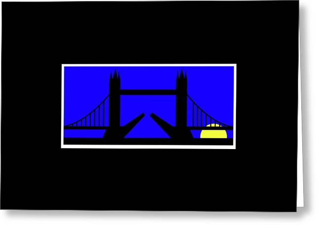 Tower Bridge In The Morning Greeting Card by Asbjorn Lonvig