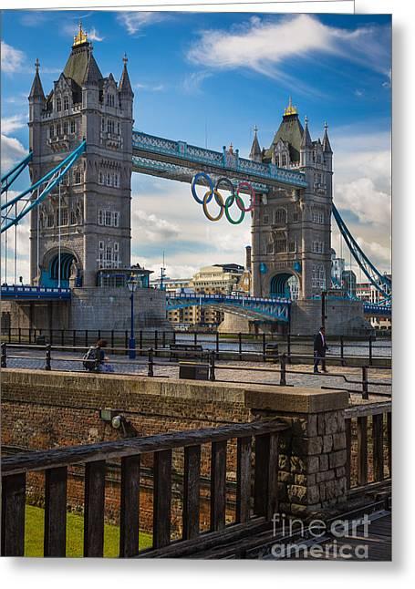 Tower Bridge Greeting Card by Inge Johnsson