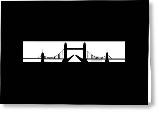 Tower Bridge London Greeting Card by Asbjorn Lonvig