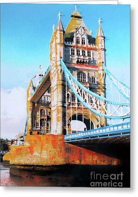 Tower Bridge Greeting Card by Nica Art Studio