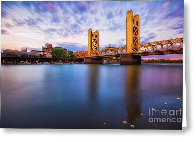 Tower Bridge Sacramento 3 Greeting Card