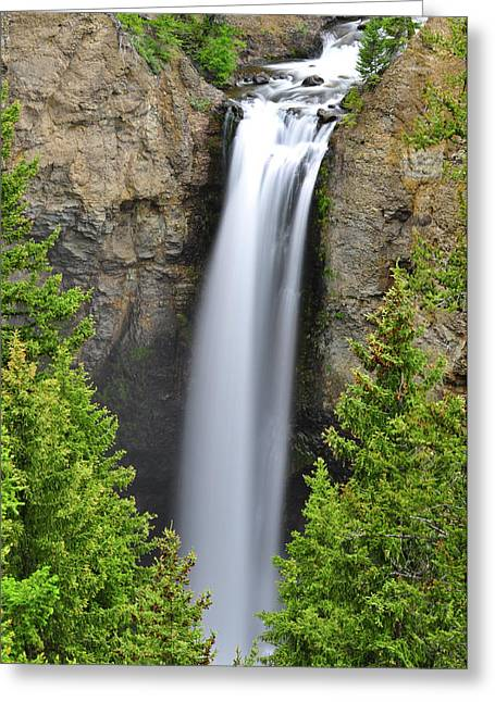 Tower Fall Greeting Card by Greg Norrell