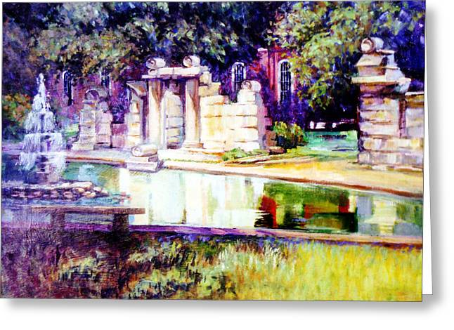 Tower Grove Park Greeting Card by Stan Esson