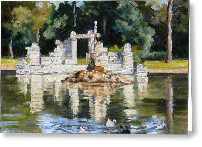 Tower Grove Park St.louis Summer Greeting Card