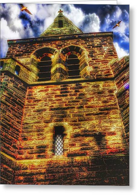 Tower Greeting Card by Isabella F Abbie Shores FRSA