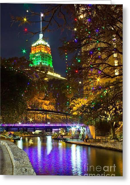Tower Life Riverwalk Christmas Greeting Card