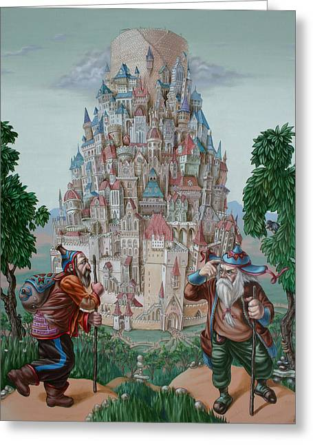 Tower Of Babel Greeting Card