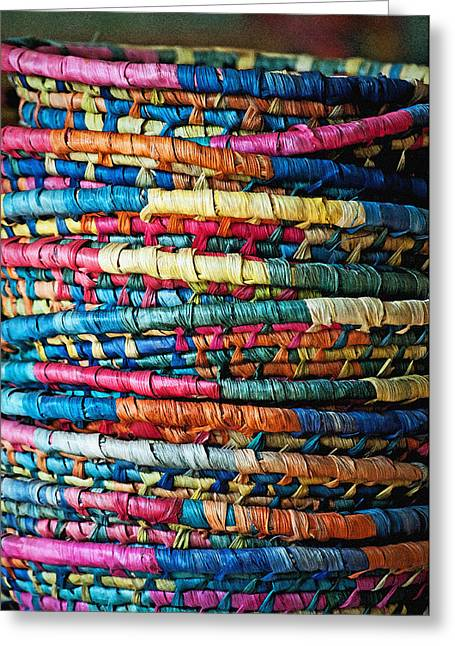Tower Of Baskets Greeting Card by Gwyn Newcombe