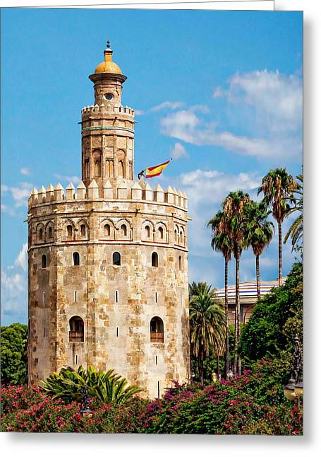 Tower Of Gold Greeting Card