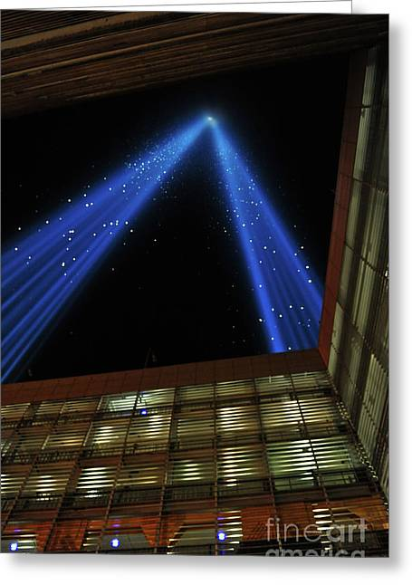 Tower Of Lights World Trade Center Greeting Card