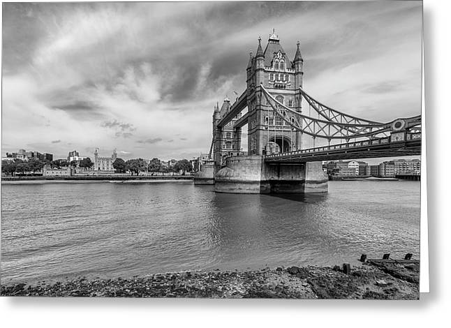 Tower Of London And Bridge Greeting Card