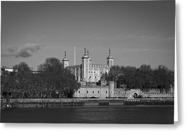 Tower Of London Riverside Greeting Card by Gary Eason