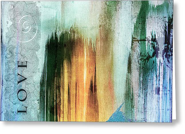 Tower Of Love Abstract Greeting Card