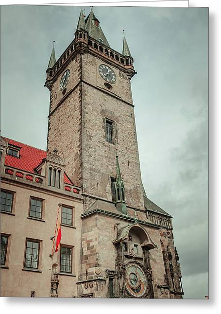Tower Of Old Town Hall In Prague Greeting Card by Jenny Rainbow