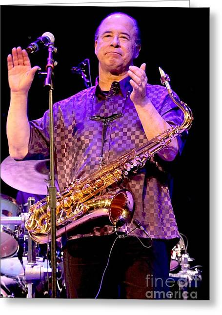 Tower Of Power Emilio Castillo Greeting Card by Concert Photos