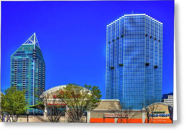 Tower Place 100 Buckhead Atlanta Art Greeting Card by Reid Callaway