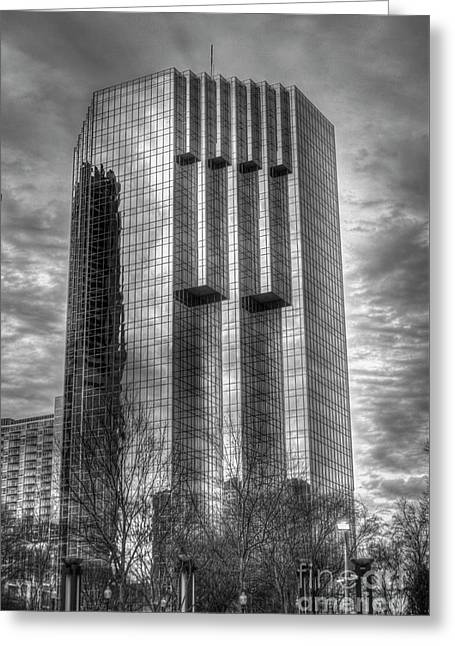 Tower Place 2 Buckhead Office Tower Art Greeting Card by Reid Callaway