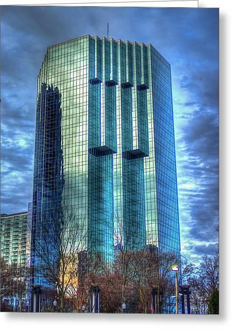 Tower Place Dawn Buckhead Atlanta Office Tower Art Greeting Card by Reid Callaway