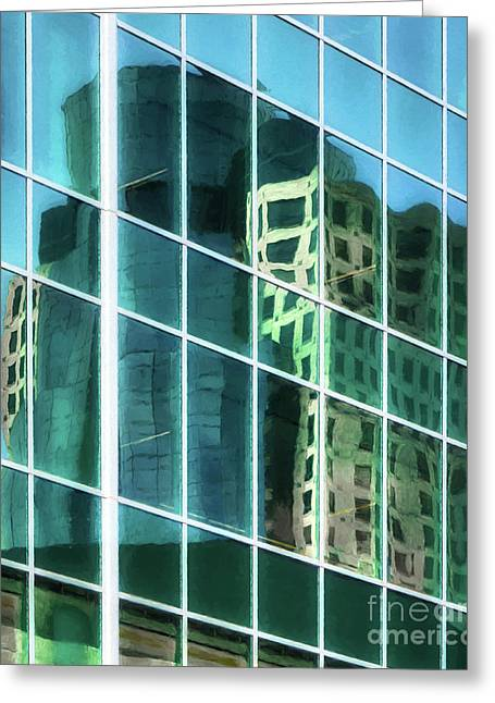Tower Reflections # 3 Greeting Card by Mel Steinhauer