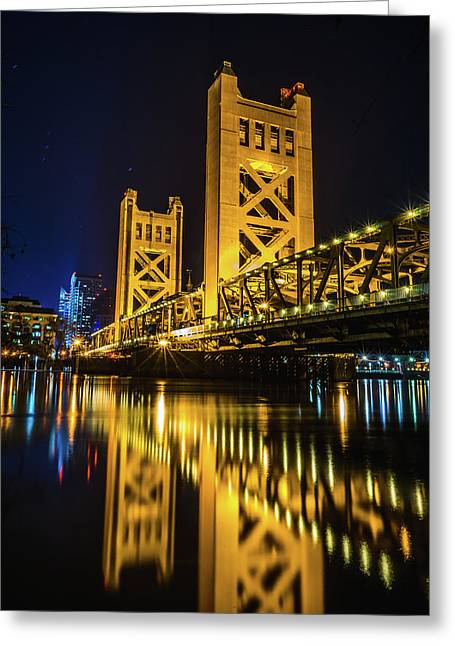 Tower Reflections Greeting Card