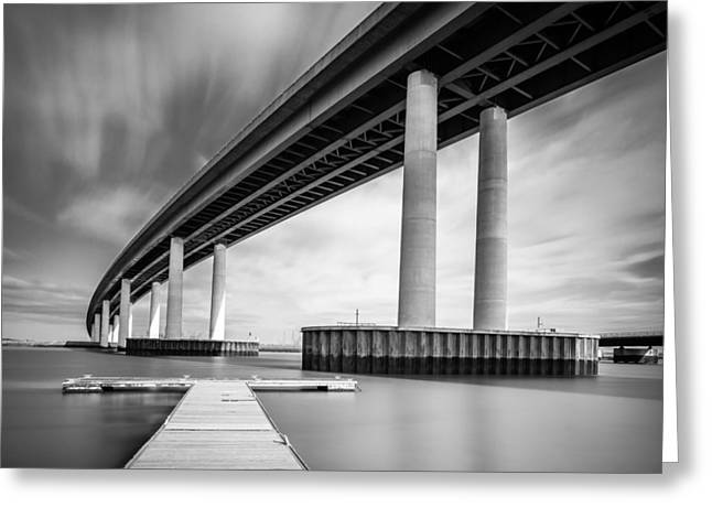 Towering Bridge Greeting Card