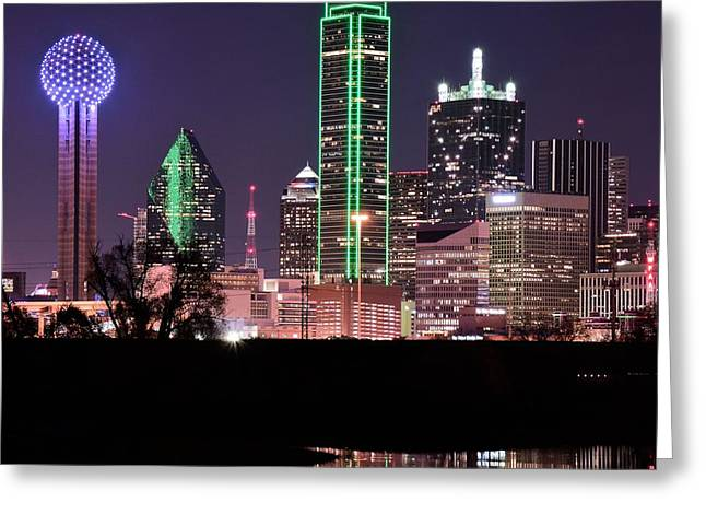 Towering Over Dallas Greeting Card by Frozen in Time Fine Art Photography