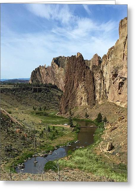 Towering Smith Rocks Greeting Card