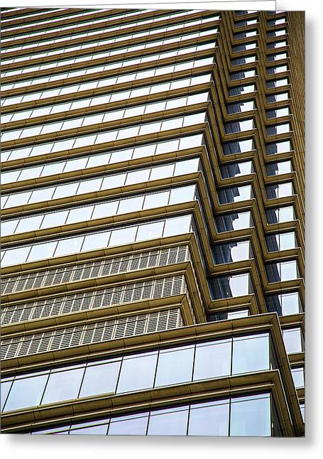 Greeting Card featuring the photograph Towering Windows by Karol Livote