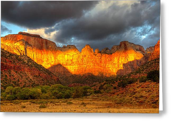 Towers Of The Virgin Two Greeting Card by Paul Basile