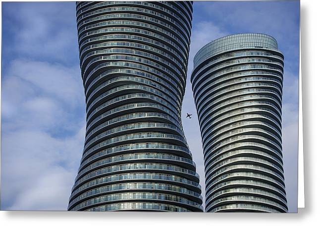 Towers Greeting Card by Rob Andrus