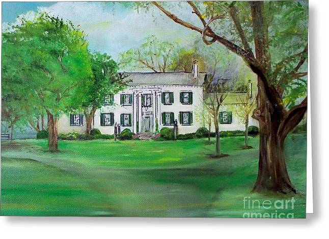 Town And Country Farm Lexington Greeting Card by Lynda McDonald