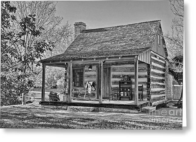 Town Creek Log Cabin In Fall_2 Greeting Card
