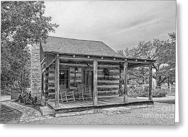 Town Creek Log Cabin Greeting Card