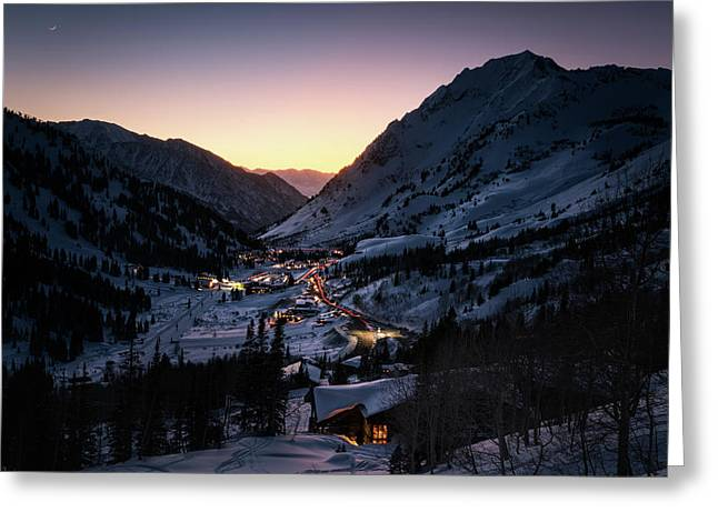 Town Of Alta At Dusk Greeting Card by James Udall