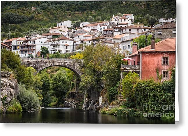 Town Of Avo Greeting Card by Carlos Caetano