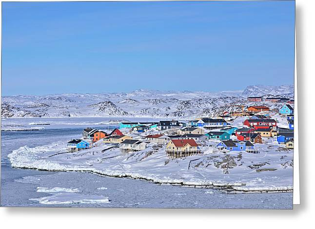 town of Ilulissat - Greenland Greeting Card