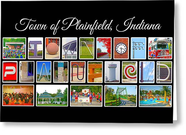 Town Of Plainfield Indiana Greeting Card by Dave Lee
