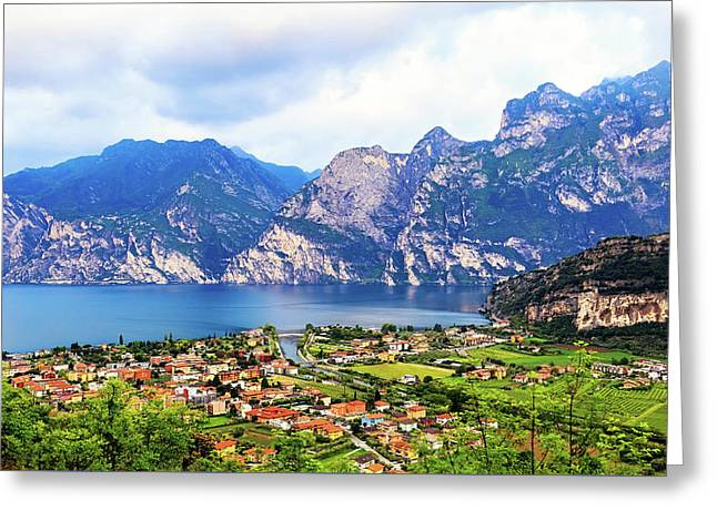 Town Of Riva Del Garda In Northern Italy Greeting Card