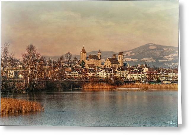 Greeting Card featuring the photograph Town Of Roses by Hanny Heim