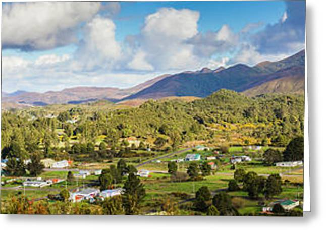 Town Of Zeehan Australia Greeting Card by Jorgo Photography - Wall Art Gallery