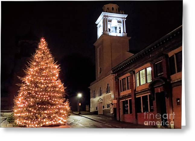 Town Square Plymouth Ma  Greeting Card