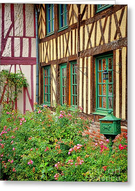 Townhouse In Normandy Greeting Card by Olivier Le Queinec