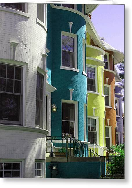 Townhouse Row 3 Greeting Card by Sean Owens