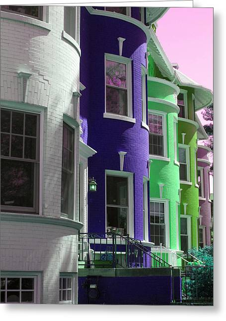 Townhouse Row 4 Greeting Card by Sean Owens
