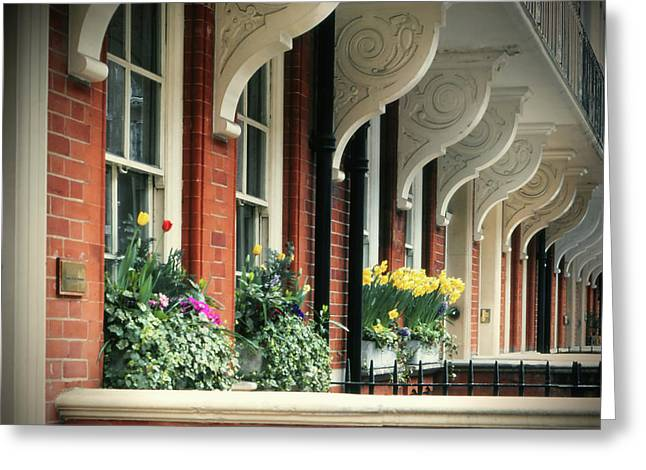 Townhouse Row - London Greeting Card
