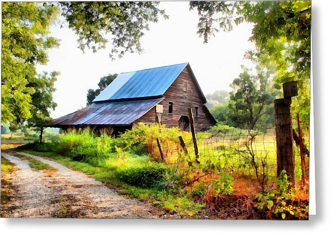 Townville Barn Greeting Card by Lynne Jenkins